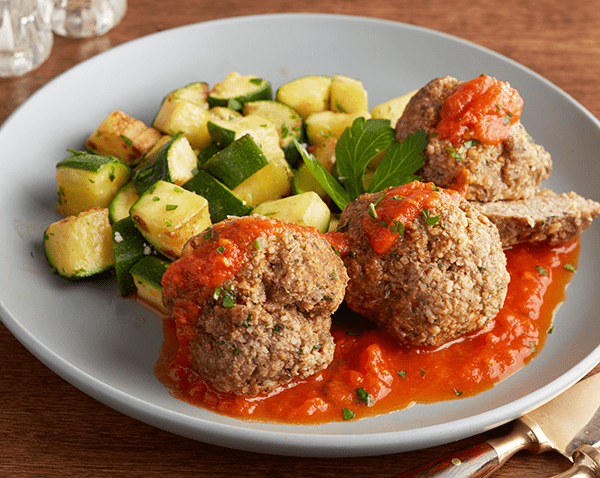 Low Carb Italian Beef Meatballs