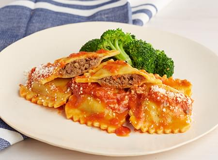 Low Carb Top Chef Meals Braised Beef Ravioli Marinara
