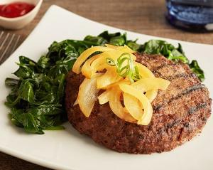 Keto: Grilled Bison Burger with Cheddar