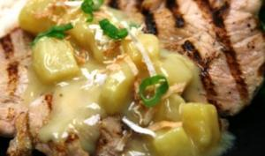 Coconut Pineapple Grilled Chicken (P)