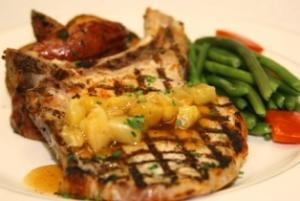 Grilled Pork Chop with Pineapple Sauce (P)