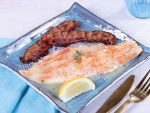 Freshly Chef Prepared Cooked Keto Seared Haddock for ketosis