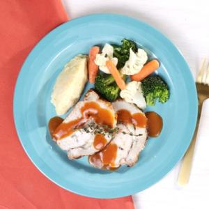 Manchego Pork Loin with Mashed Potatoes