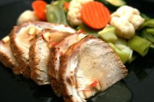 Loin of Pork with Apple Gravy (P)