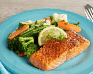 KETO:  Buttered Salmon and California Blend