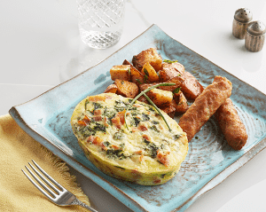 Spinach, Egg and Bacon Frittata