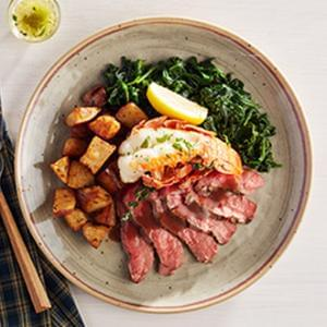 GOURMET LINE:  Surf & Turf Lobster Flank Steak