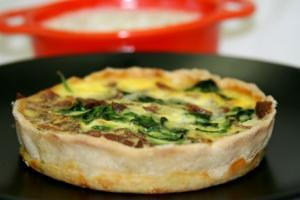 Spinach and Egg Quiche
