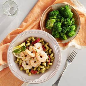 Pesto Shrimp with Cavatappi