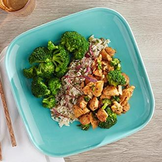 Chicken and Broccoli with Citrus Quinoa with Brussel Sprouts