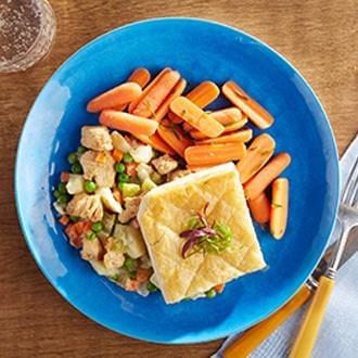 Classic Chicken Pot Pie  with PART OF ENTREE with Carrots