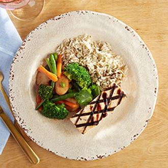 PREMIUM LINE: Grilled Balsamic Tofu with Citrus Quinoa with Asian Blend