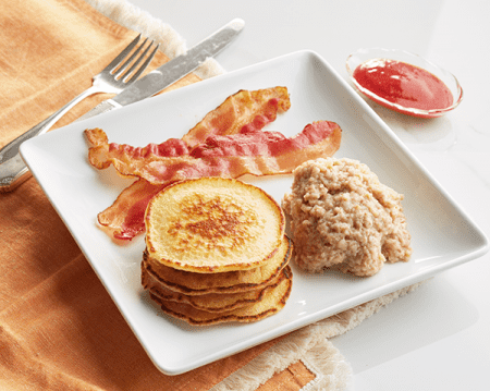 Gluten Free Pancakes with Strawberry Compote